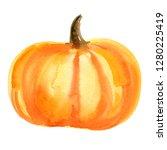 piece of orange pumpkin with... | Shutterstock . vector #1280225419