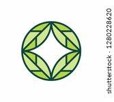 green leaf nature farm business ... | Shutterstock .eps vector #1280228620
