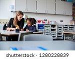 young female primary school... | Shutterstock . vector #1280228839