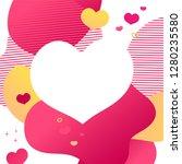 template design valentine sale... | Shutterstock .eps vector #1280235580