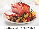 Roasted Christmas Ham With...