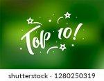 top 10 lettering card  banner.... | Shutterstock .eps vector #1280250319