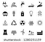 energy icon set | Shutterstock .eps vector #1280251159