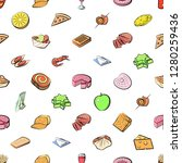 various images set. background... | Shutterstock .eps vector #1280259436