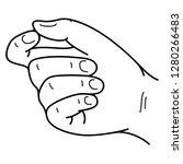 human hand making pinch gesture.... | Shutterstock .eps vector #1280266483