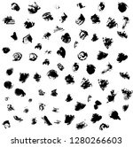 a large set of spots and points.... | Shutterstock .eps vector #1280266603