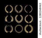 wheat element logo vector | Shutterstock .eps vector #1280268463