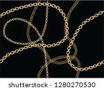 gold fashion chain print... | Shutterstock .eps vector #1280270530