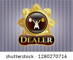 gold badge with snatch ... | Shutterstock .eps vector #1280270716