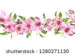 flowering branches of apple ... | Shutterstock . vector #1280271130