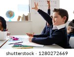 schoolboy with down syndrome... | Shutterstock . vector #1280272669