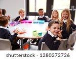 elevated view of primary school ... | Shutterstock . vector #1280272726
