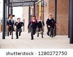 primary school kids  wearing... | Shutterstock . vector #1280272750