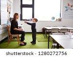 schoolboy at primary school... | Shutterstock . vector #1280272756