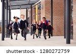 primary school kids  wearing... | Shutterstock . vector #1280272759