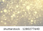 golden lights effect isolated... | Shutterstock .eps vector #1280277640