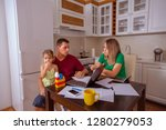 family budget and finances ... | Shutterstock . vector #1280279053
