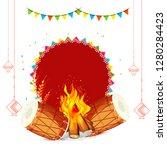 illustration of punjabi... | Shutterstock .eps vector #1280284423