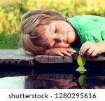 green leaf ship in children... | Shutterstock . vector #1280295616
