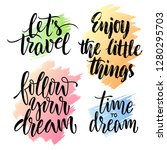 vector set of motivating and...   Shutterstock .eps vector #1280295703