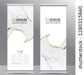 roll up business brochure flyer ... | Shutterstock .eps vector #1280315860