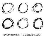doodle vector circles. hand... | Shutterstock .eps vector #1280319100