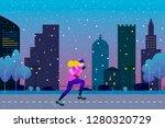 winter running concept. young... | Shutterstock .eps vector #1280320729