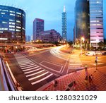 view of a busy street corner at ... | Shutterstock . vector #1280321029