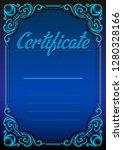graphic dark blue detailed... | Shutterstock .eps vector #1280328166
