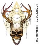 detailed graphic realistic... | Shutterstock .eps vector #1280328229