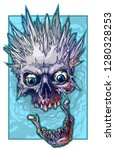 detailed graphic realistic cool ... | Shutterstock .eps vector #1280328253