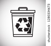 ecology recycling icon on white ... | Shutterstock .eps vector #1280334673