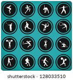 sport icons. vector set. | Shutterstock .eps vector #128033510