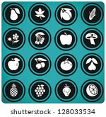 fruits and vegetables set .... | Shutterstock .eps vector #128033534