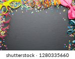 party background with confetti... | Shutterstock . vector #1280335660