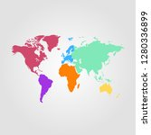 world map vector | Shutterstock .eps vector #1280336899