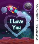 i love you sign on the space... | Shutterstock .eps vector #1280340709