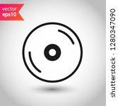 compact disc icon. dvd vector... | Shutterstock .eps vector #1280347090