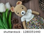 amigurumi  soft knitted toys  | Shutterstock . vector #1280351440