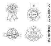 vector design of emblem and... | Shutterstock .eps vector #1280356420