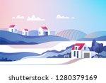 rural landscape. suburban... | Shutterstock .eps vector #1280379169