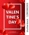 valentines day background... | Shutterstock .eps vector #1280380303