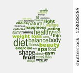 apple diet and fitness concept | Shutterstock .eps vector #128038289
