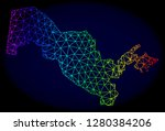 spectrum colored mesh vector... | Shutterstock .eps vector #1280384206