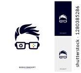 geek games leaf logo concept...   Shutterstock .eps vector #1280385286