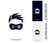 geek games leaf logo concept...   Shutterstock .eps vector #1280385289
