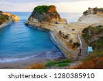 famous canal d'amour beach with ... | Shutterstock . vector #1280385910