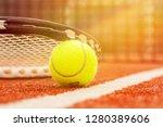 tennis game. tennis ball and...   Shutterstock . vector #1280389606