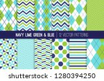 navy blue  lime green and aqua... | Shutterstock .eps vector #1280394250