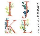 i  j  k  l  decorative floral... | Shutterstock . vector #1280394490